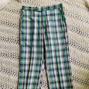 Vintage Plaid Preppy Golf Summer Pants Trousers
